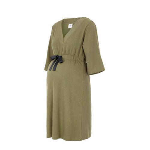 MAMALICIOUS ribgebreide zwangerschapsjurk Kaya olijfgroen zwart, Deze dames zwangerschapsjurk van MAMALICIOUS is gemaakt van een polyestermix. Het model beschikt over een elastische tailleband met een aantrekkoord. De jurk met 3/4 mouwen heeft verder een V-hals.details van deze jurk:• ribgebreidExtra gegevens:Merk: MAMALICIOUSKleur: GroenModel: Jurk (Dames)Voorraad: 9Verzendkosten: 0.00Plaatje: Fig1Plaatje: Fig2Maat/Maten: LLevertijd: direct leverbaarAanbiedingoude prijs: € 44.99