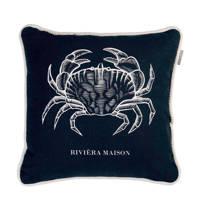 Riviera Maison sierkussen Crabby (43x43 cm), Blauw