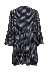 JACQUELINE DE YONG jurk met stippen donkerblauw/wit, Donkerblauw/wit