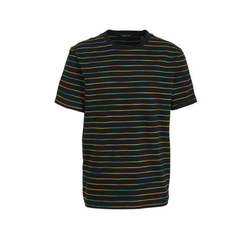 Scotch & Soda gestreept T-shirt zwart