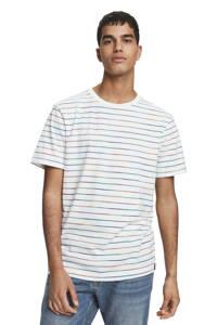 Scotch & Soda gestreept T-shirt wit, Wit