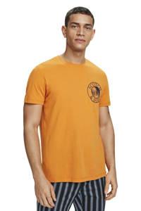 Scotch & Soda T-shirt met printopdruk oranje, Oranje