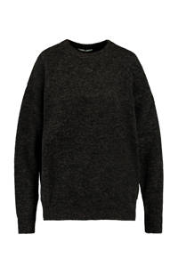 America Today gemêleerde gebreide trui zwart, Zwart
