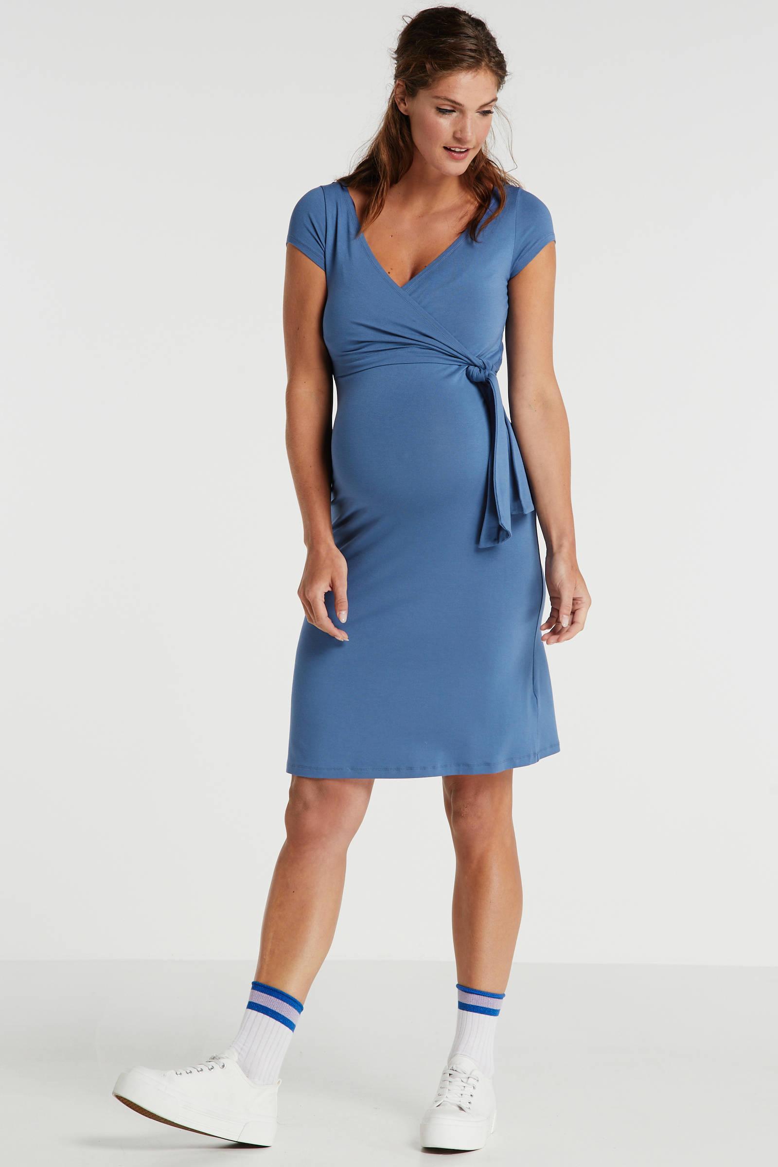 9Fashion zwangerschaps- en voedingsjurk Janisa blauw