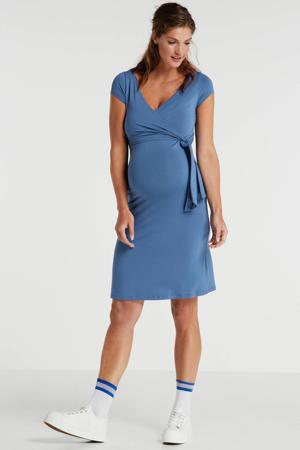 zwangerschaps- en voedingsjurk Janisa blauw