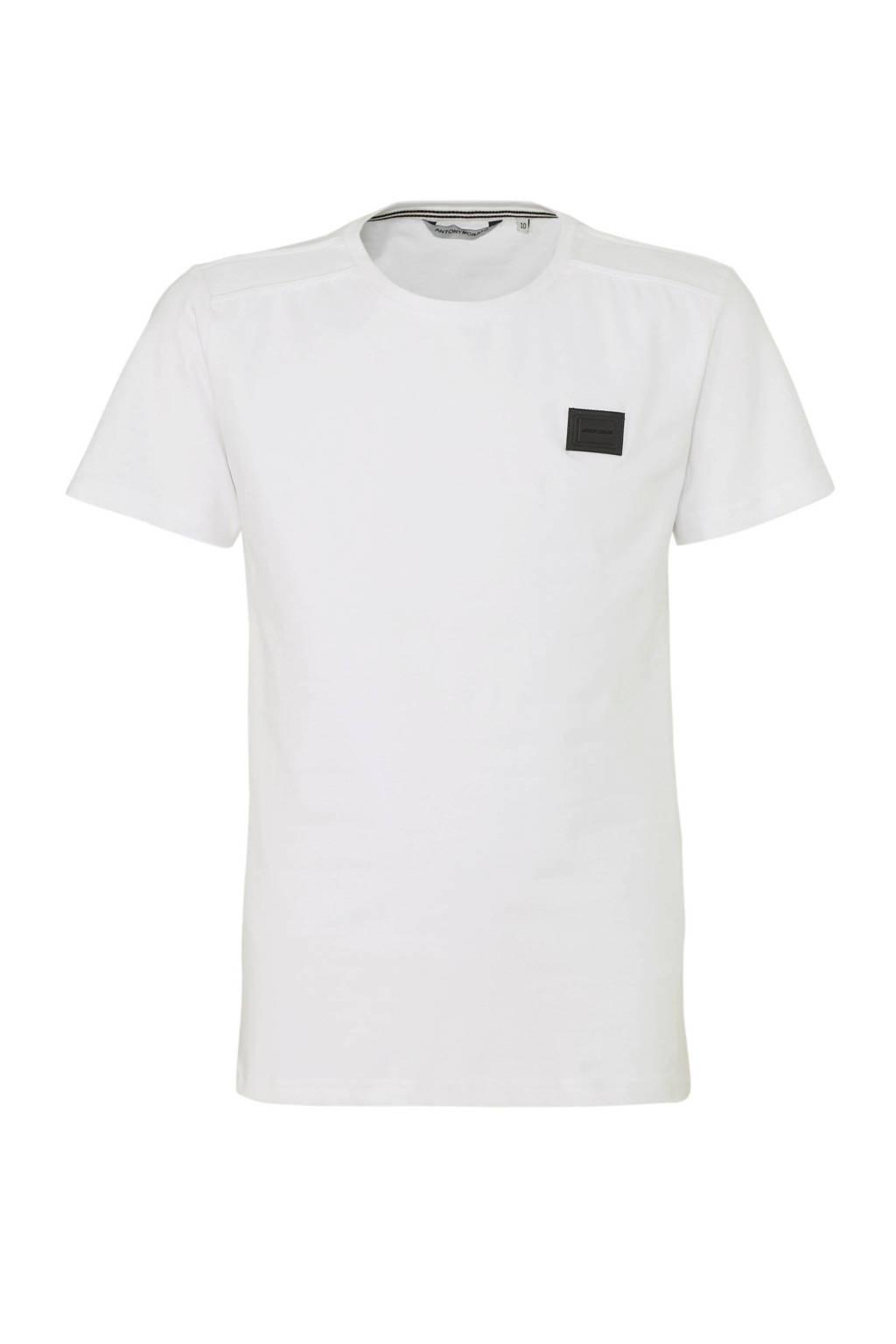 Antony Morato T-shirt wit/zwart, Wit/zwart