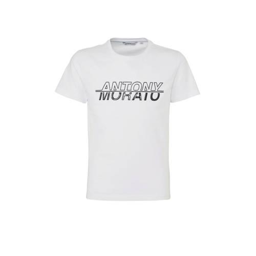 Antony Morato T-shirt met logo wit/zwart