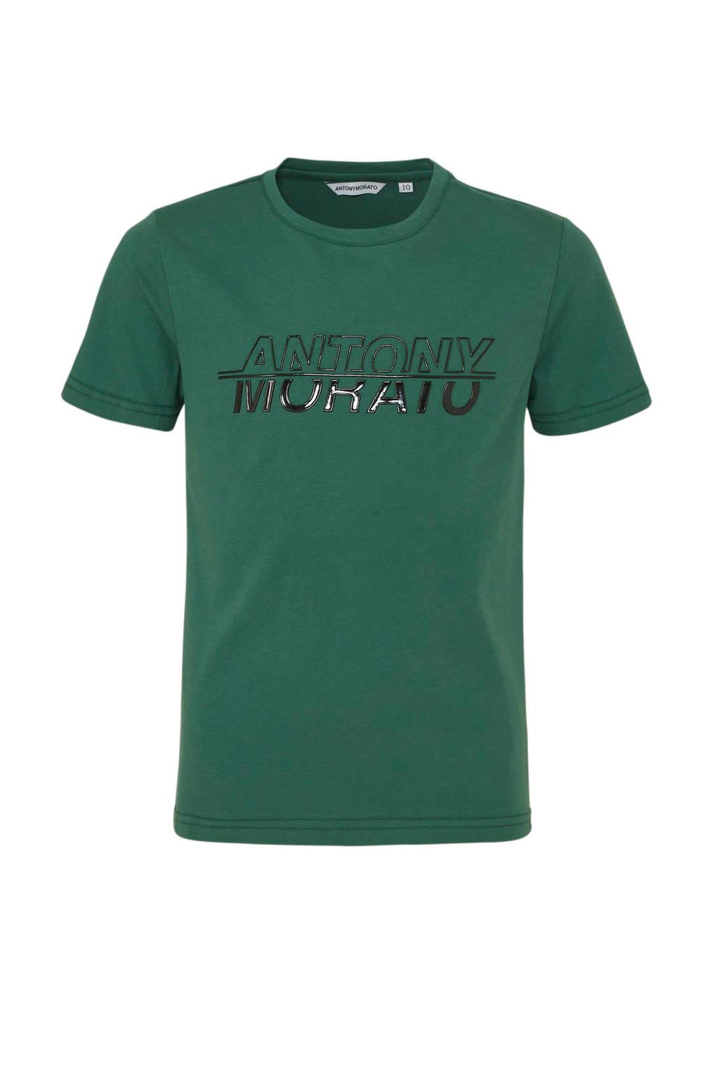 Antony Morato T-shirt met logo donkergroen/zwart, Donkergroen/zwart