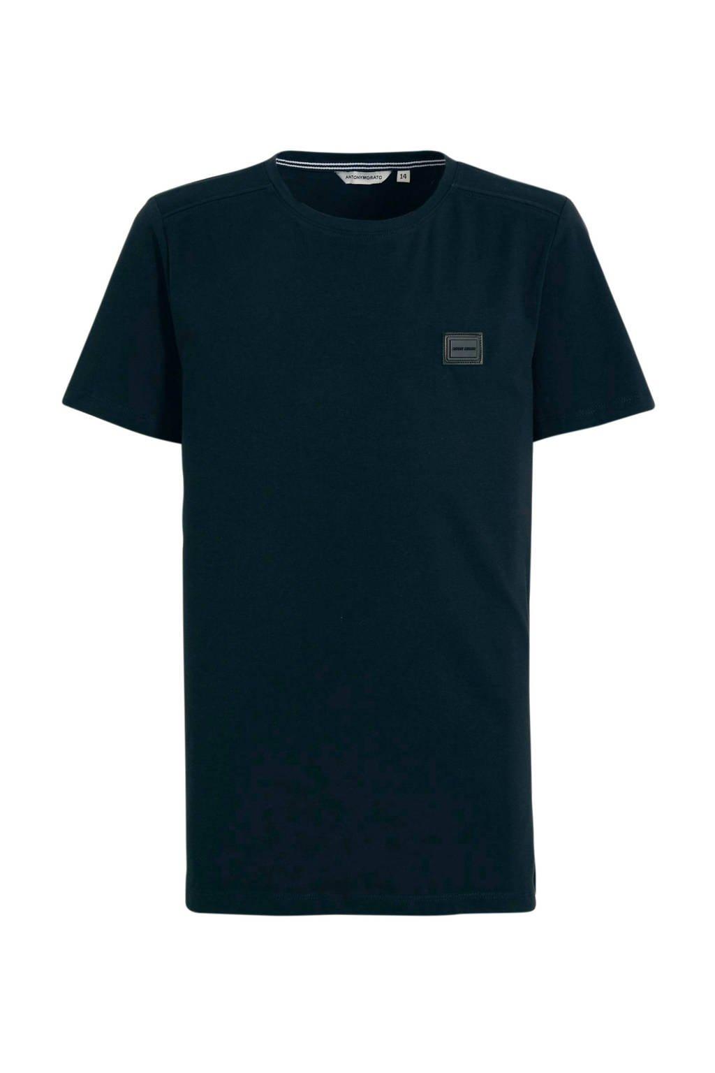 Antony Morato T-shirt met 3D applicatie donkerblauw, Donkerblauw