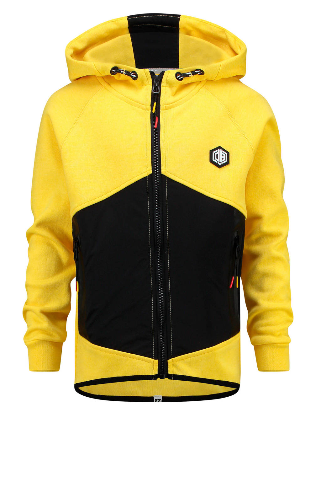 Vingino vest Daley Blind geel/zwart/rood, Geel/zwart/rood