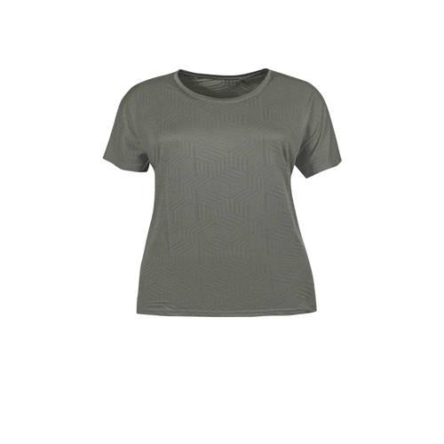 Zhenzi Sport T-shirt olijfgroen