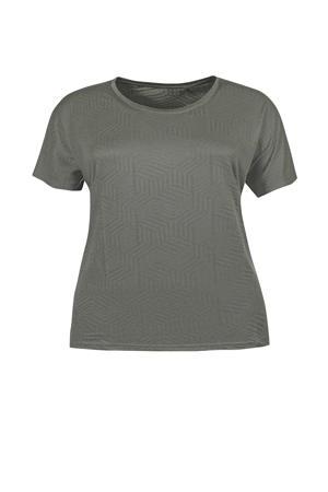 T-shirt olijfgroen