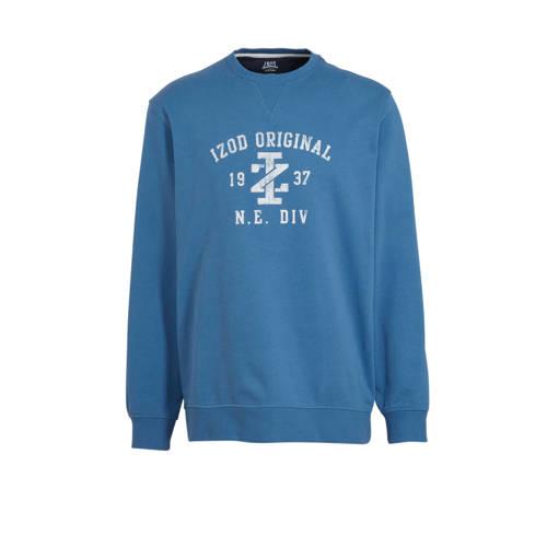 IZOD sweater met printopdruk blauw