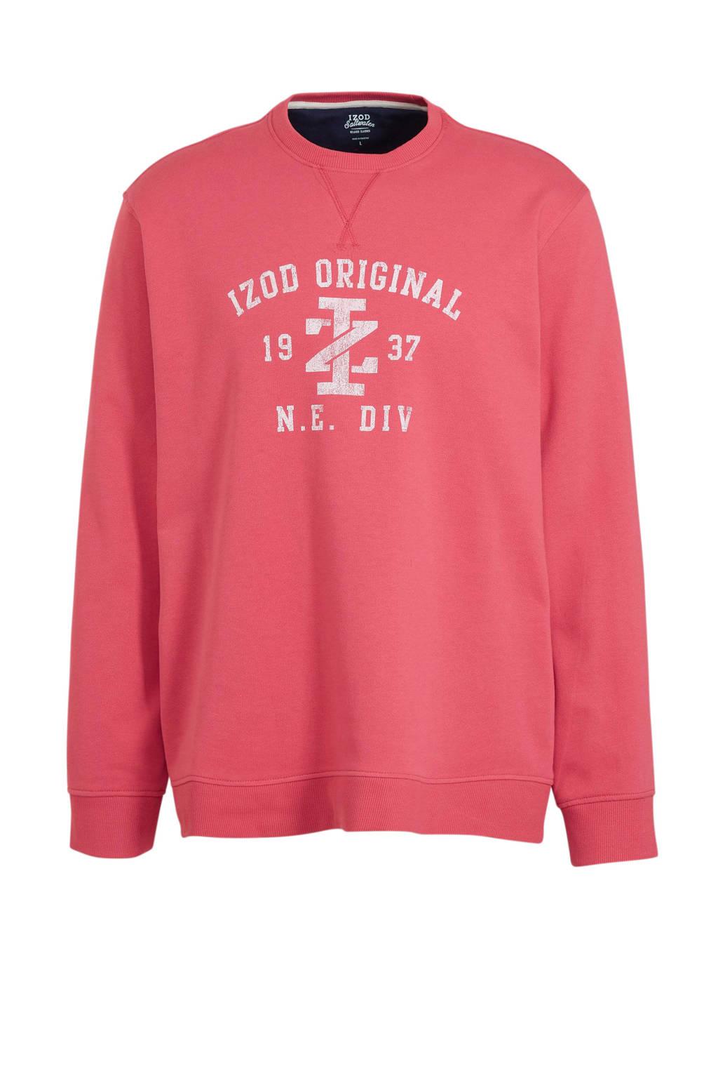 IZOD sweater met printopdruk roze, Roze
