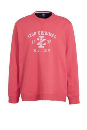 sweater met printopdruk roze