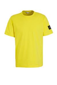 CALVIN KLEIN JEANS T-shirt geel, Geel