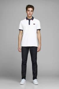 JACK & JONES CORE slim fit polo met logo wit, Wit