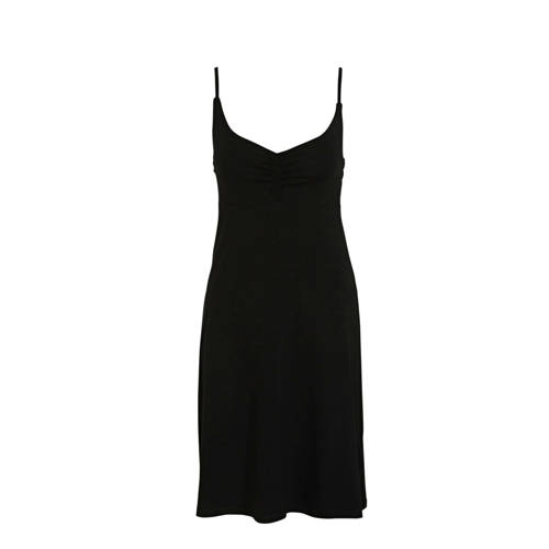 Geisha jurk Dress spaghetti solid zwart