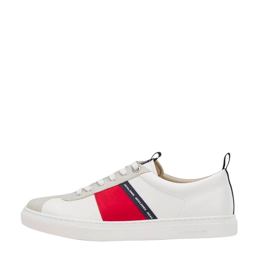 JACK & JONES   sneakers wit, Wit/rood