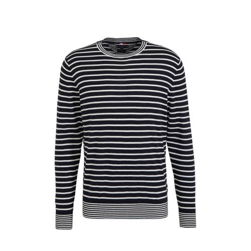Tommy Hilfiger Tailored gestreepte sweater zwart