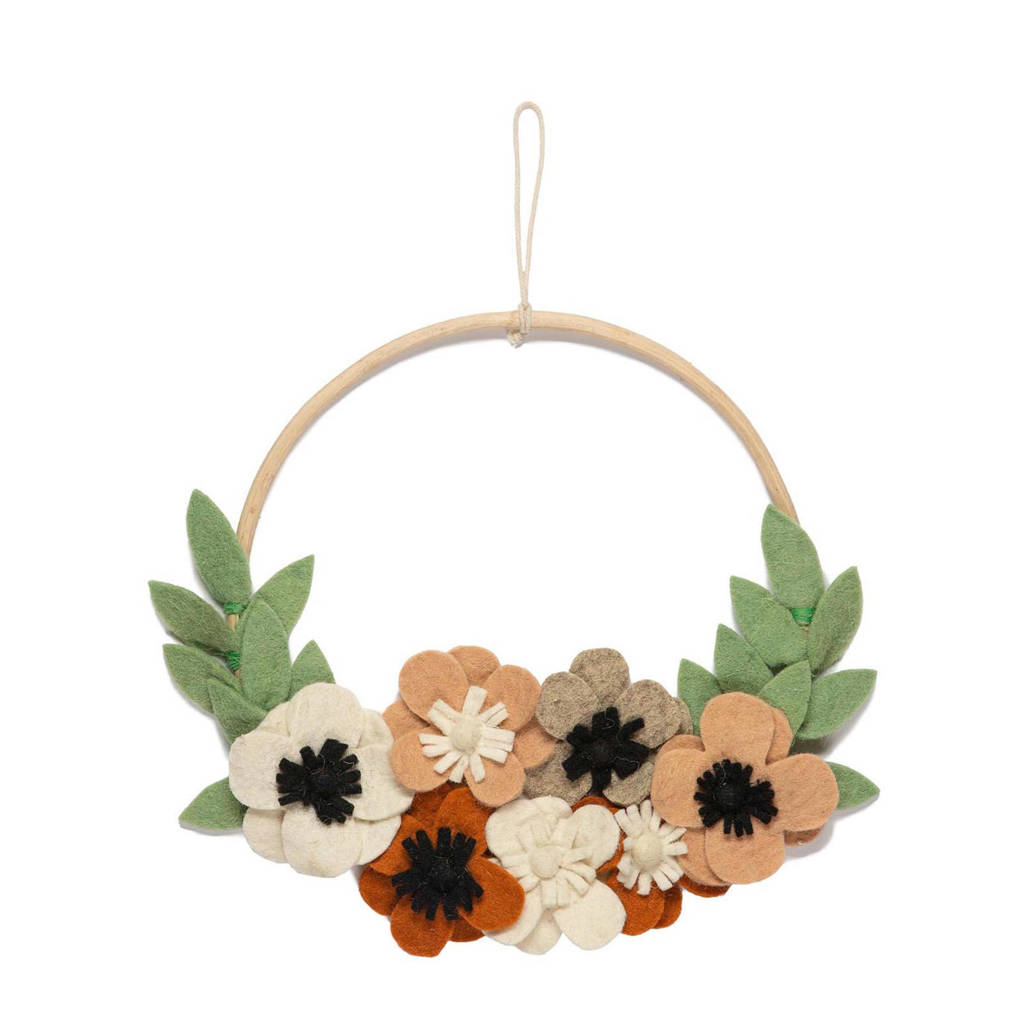 Kidsdepot wanddecoratie Flowers  (Ø30 cm), Multi