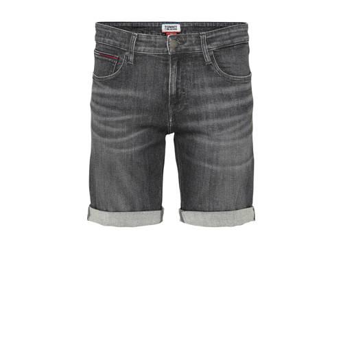 Tommy Jeans slim fit jeans short zwart