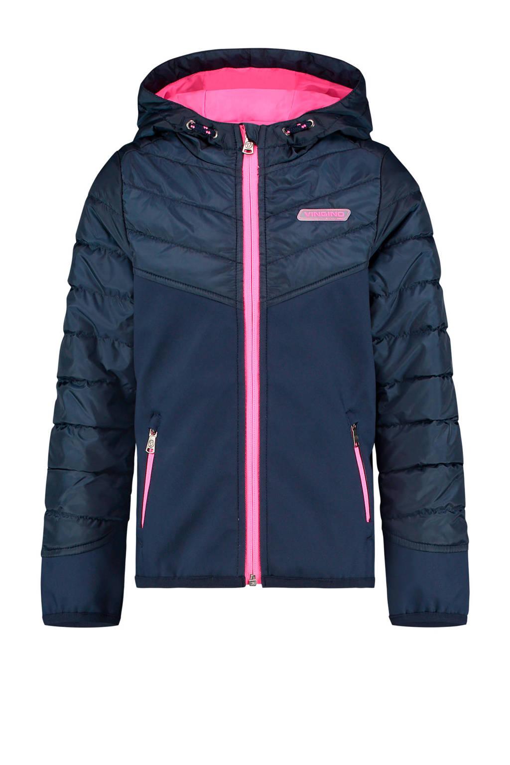 Vingino zomerjas Teraise donkerblauw/roze, Donkerblauw/roze