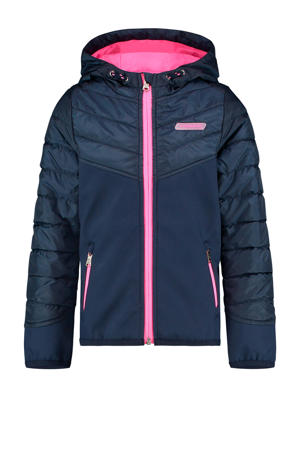 zomerjas Teraise donkerblauw/roze