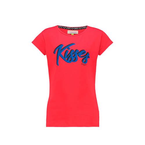 Vingino T-shirt Haidry met tekst rood