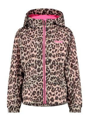 zomerjas Tyra met panterprint bruin/beige/roze