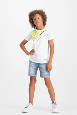 jeans bermuda Cestival light vintage