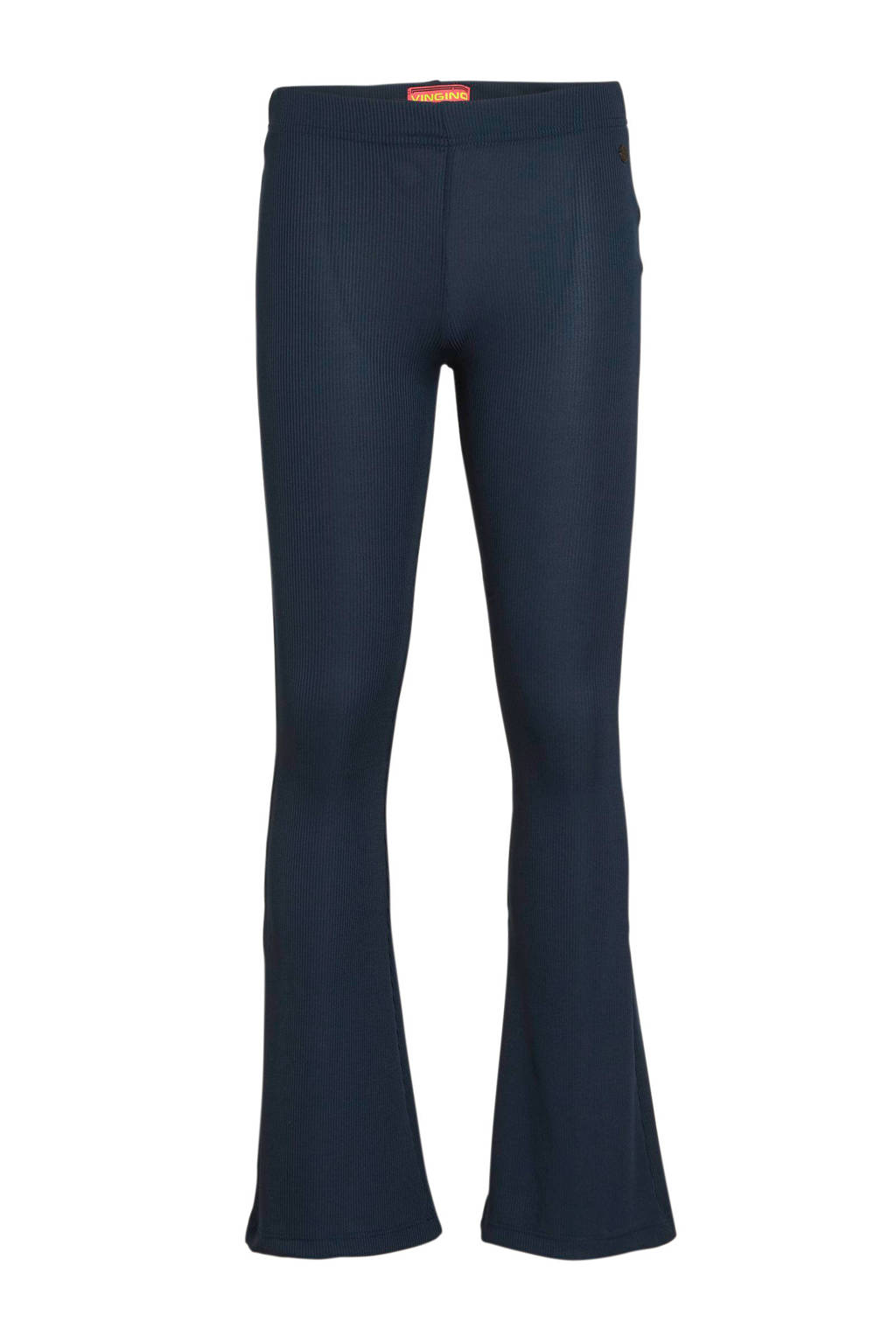 Vingino flared broek Stacy donkerblauw, Donkerblauw