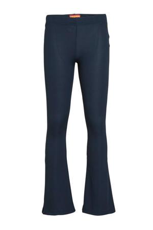 flared broek Stacy donkerblauw