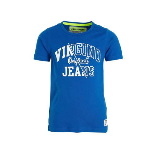 Vingino T-shirt Harjan met logo blauw
