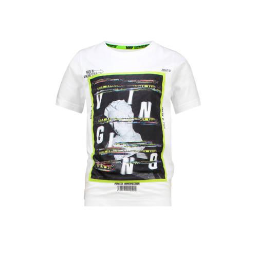 Vingino T-shirt Heffie met printopdruk wit