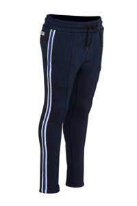 Vingino broek Salder met zijstreep donkerblauw/blauw, Donkerblauw/blauw