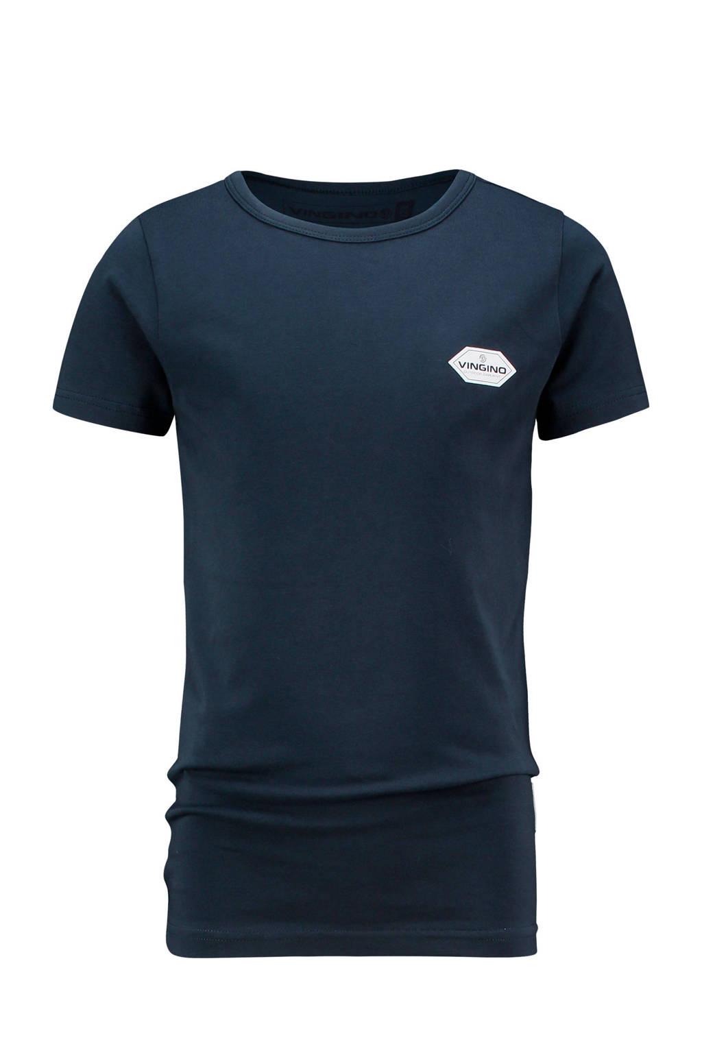 Vingino basic T-shirt Heag donkerblauw, Donkerblauw