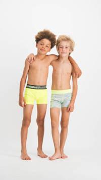 Vingino   boxershort Future - set van 2 felgeel/grijs melange, Felgeel/grijs melange