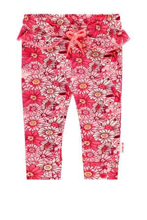 gebloemde broek Sterre mini rood/roze