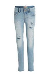 Vingino skinny jeans Avenida met slijtage light vintage, Light vintage
