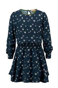 Vingino gebloemde jurk Parish donkerblauw/wit, Donkerblauw/wit