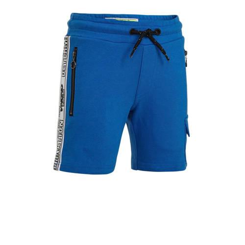 Vingino cargo sweatshort Rezz met zijstreep blauw/