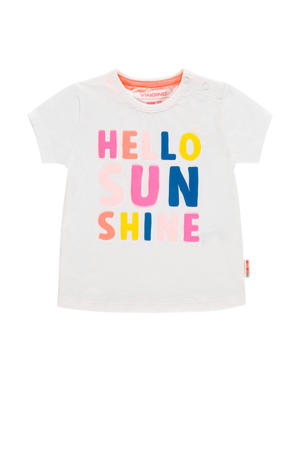 T-shirt Hala mini met tekst wit