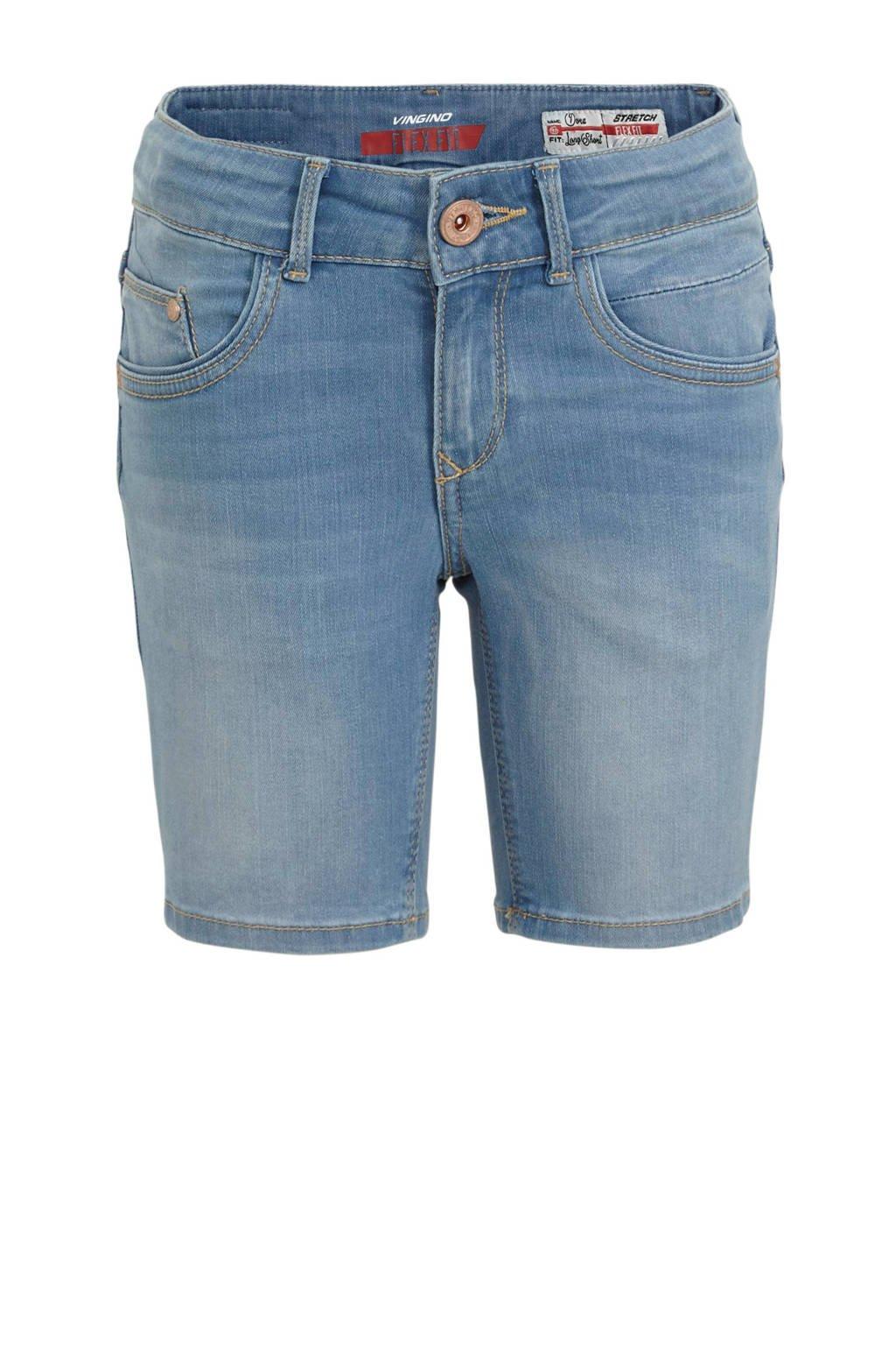 Vingino skinny jeans short Dora light indigo, Light Indigo