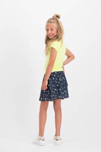 Vingino gebloemde rok Qerina donkerblauw/wit, Donkerblauw/wit