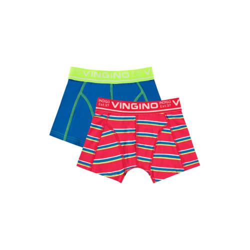 Vingino boxershort Hero - set van 2 rood/blauw