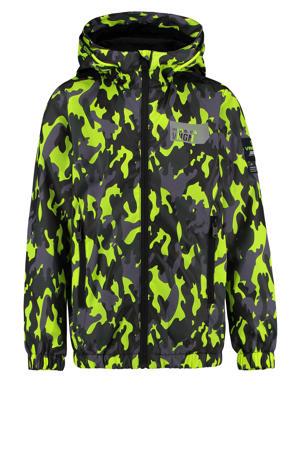 zomerjas Tarmy met camouflageprint neon geel/zwart/grijs