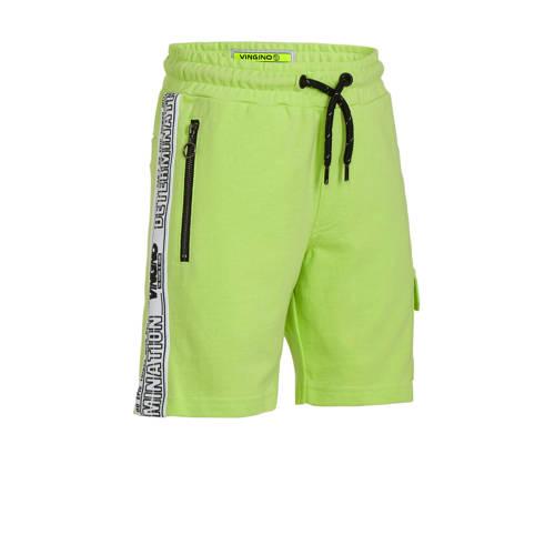 Vingino cargo sweatshort Rezz met zijstreep neon g