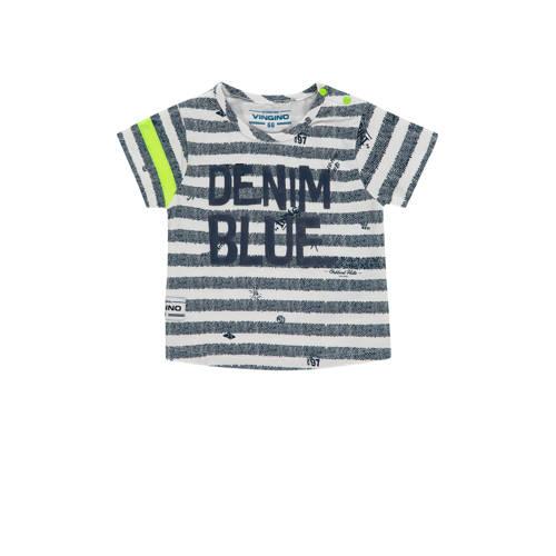 Vingino gestreept T-shirt Held mini donkerblauw/of