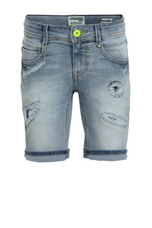 jeans bermuda Carlisio met slijtage light vintage